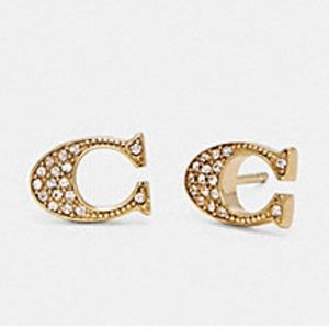 Coach Jewelry - Coach Signature Stud earrings with rhinestones